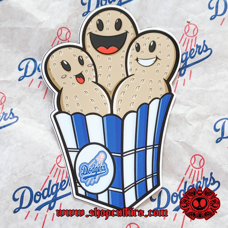 Image of Dodgers Snack pack vinyl stickers