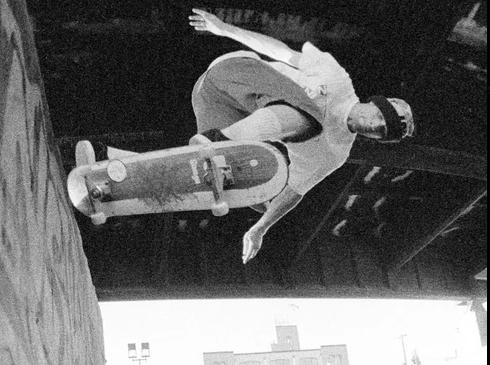 Julien Stranger, Back side tailslide, Burnside, 1993 by Tobin Yelland