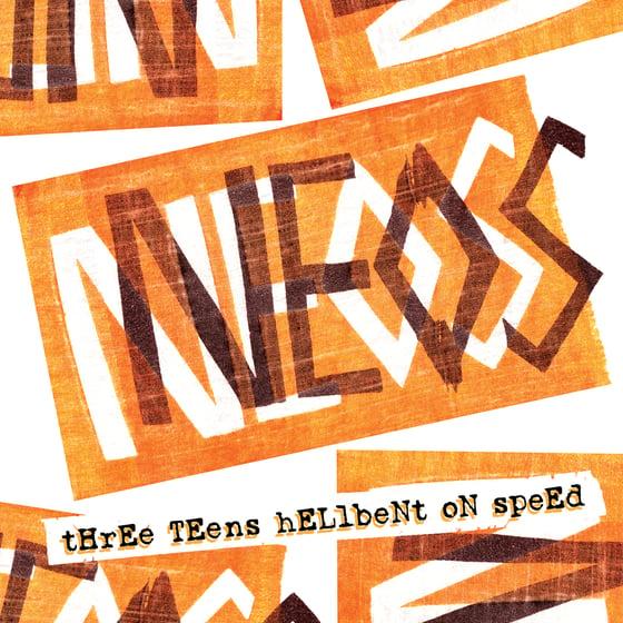 "Image of NEOS - ""THREE TEENS HELLBENT ON SPEED"" LP (1981-83)"