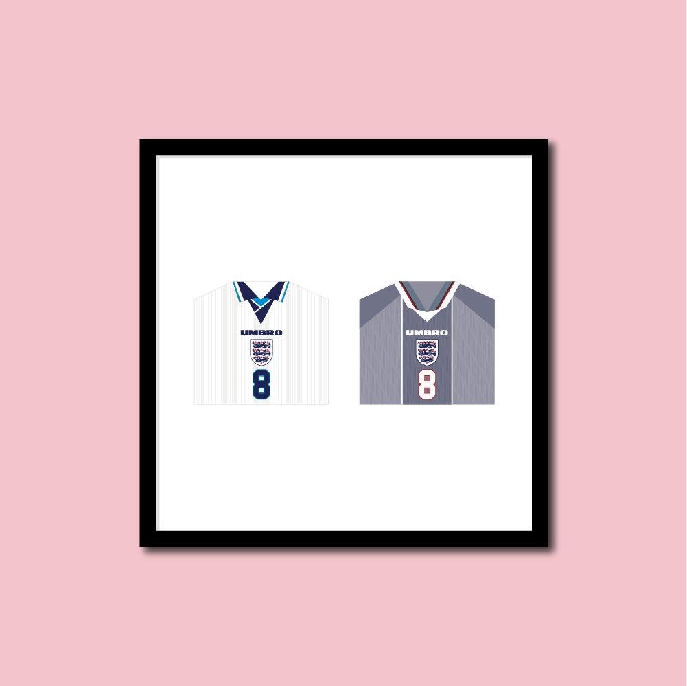 Euro 96 Gazza England Shirt