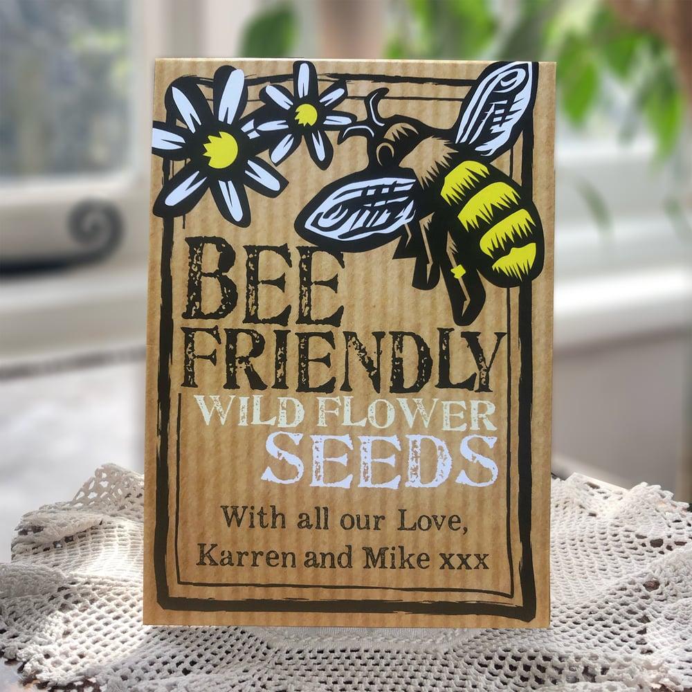 Image of Personalised Packet of Bee Friendly Wild Flower Seeds (£5.94 incl VAT)
