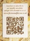 Bespoke QR Code - Engraved Wooden Plaque