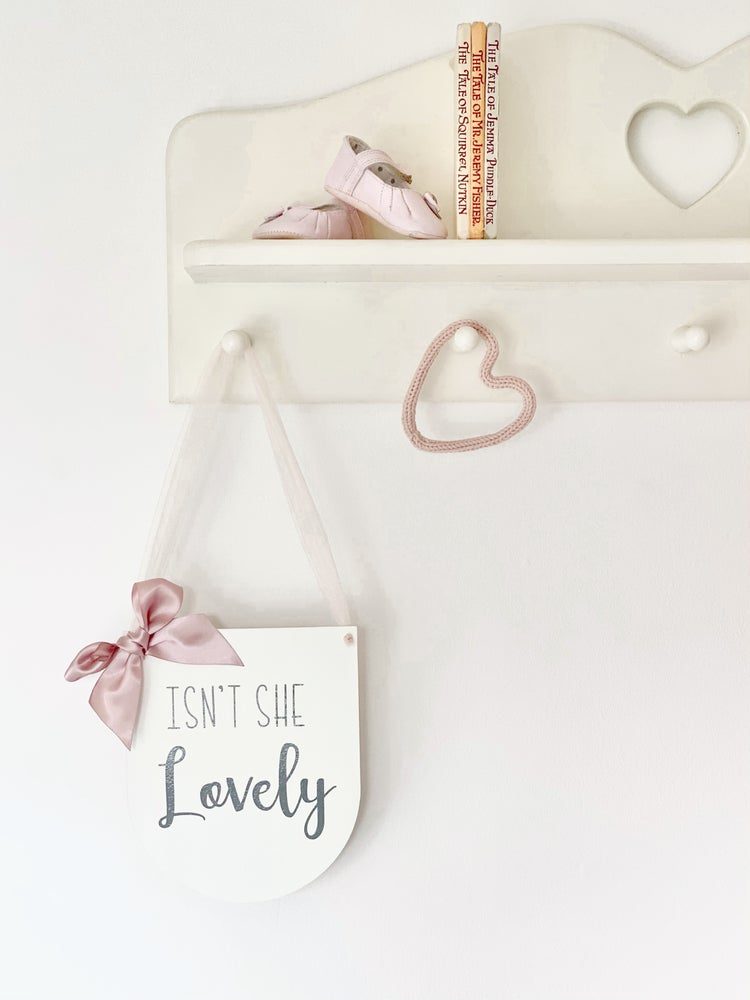 Image of Tulle & ribbon quote pennant