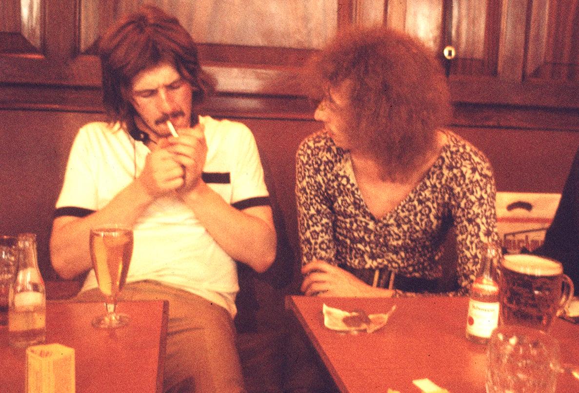 Image of John Bonham and Chicken Shack in a London Pub (June 1970)