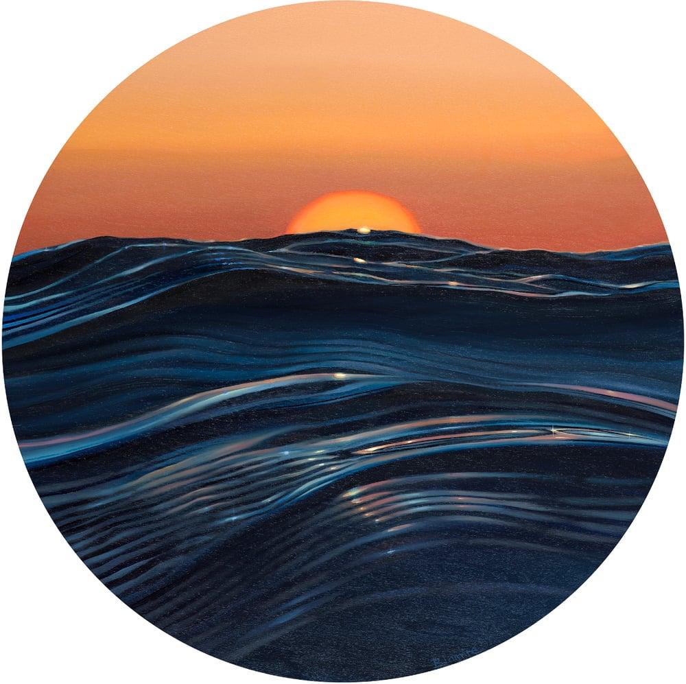 Image of Porthole sunrise giclee print