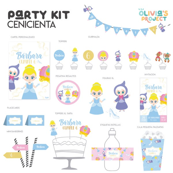 Image of Party Kit Cenicienta