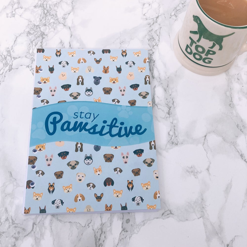 Image of GRANDE PLANNER FOOD DIARY ORGANISER INSERT STAY PAWSITIVE