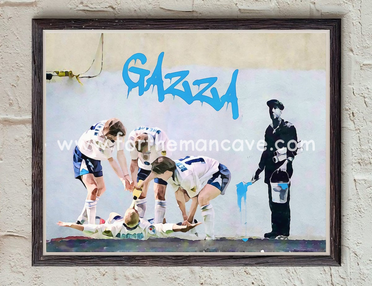 """Image of BANKSY STYLE - """"GAZZA - DENTIST CHAIR EURO 96"""""""