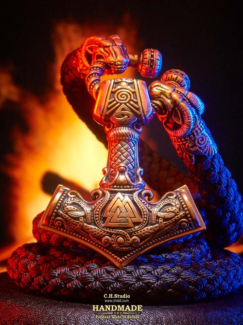 Image of MJOLNIR with Valknut :: Paracord Necklace