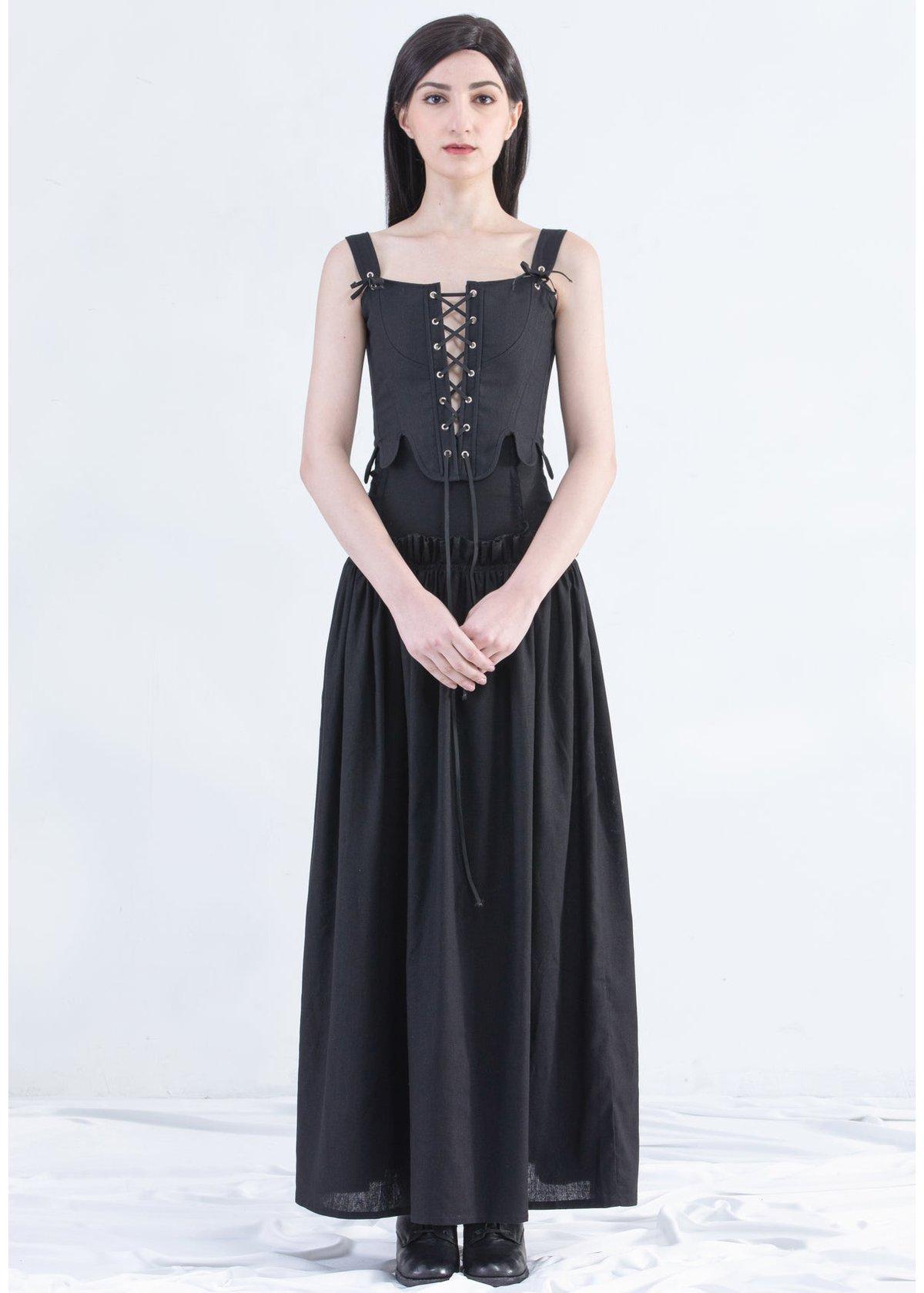 Image of Siren Corset Vest In Black