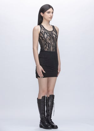 Image of Limited Edition - Embroidered Lace Top in Black