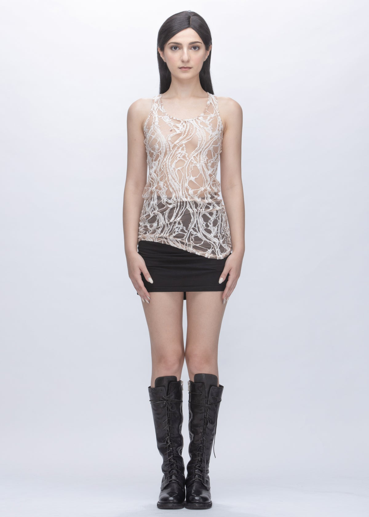 Image of Limited Edition - Embroidered Lace Multi Way Tube Top in Ivory & White