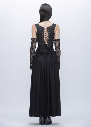 Image of Limited Edition - Embroidered Lace Sleeves & Gloves in Black