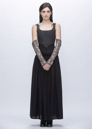 Image of  Limited Edition - Embroidered Lace Sleeves & Gloves in Dust Grey