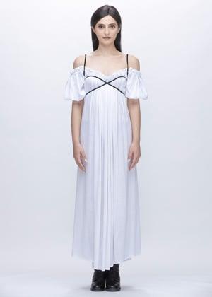 Image of Suri Lace Up Multi Way Dress in White