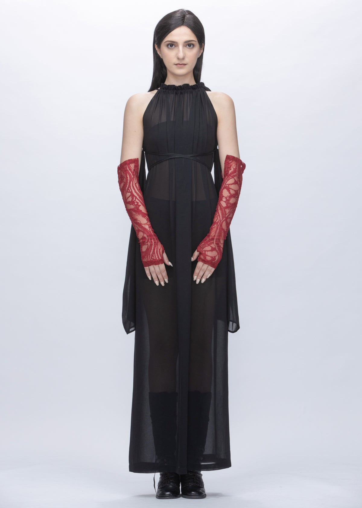 Image of  Limited Edition - Embroidered Lace Sleeves & Gloves in Red