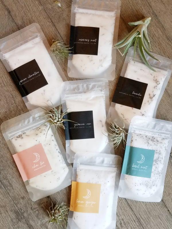 Image of Botanical Herbal Bath Soak - Assorted Scent Blends