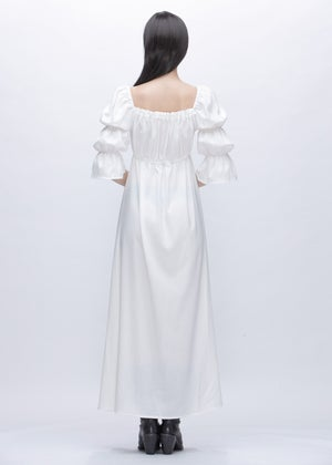 Image of Jane Dress With Puff Sleeves in White