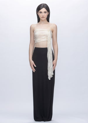 Image of Embroidered Lace Multi Way Tube Top in Ivory