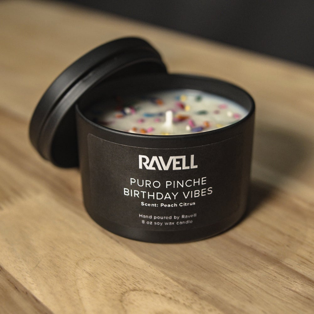 Ravell's  Puro Pinche Birthday Vibes Candle  (Limited Time Only - SIGNED)