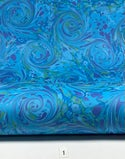 Marbled Paper Gouache on Tabriz Blue II - 1/2 sheets