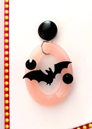 Image of Batty Dreadful Earrings - Poison Pink