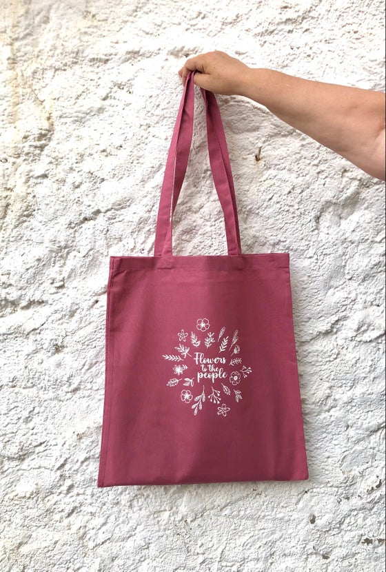 Image of Totebag FLOWERS TO THE PEOPLE 3 colors disponibles