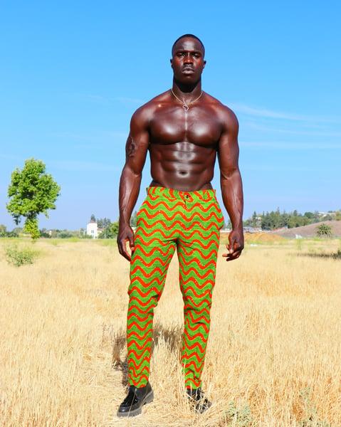 Image of The kendu pants - Green waves