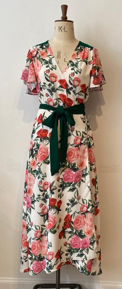 Image of Wild Roses Nevada wrap dress