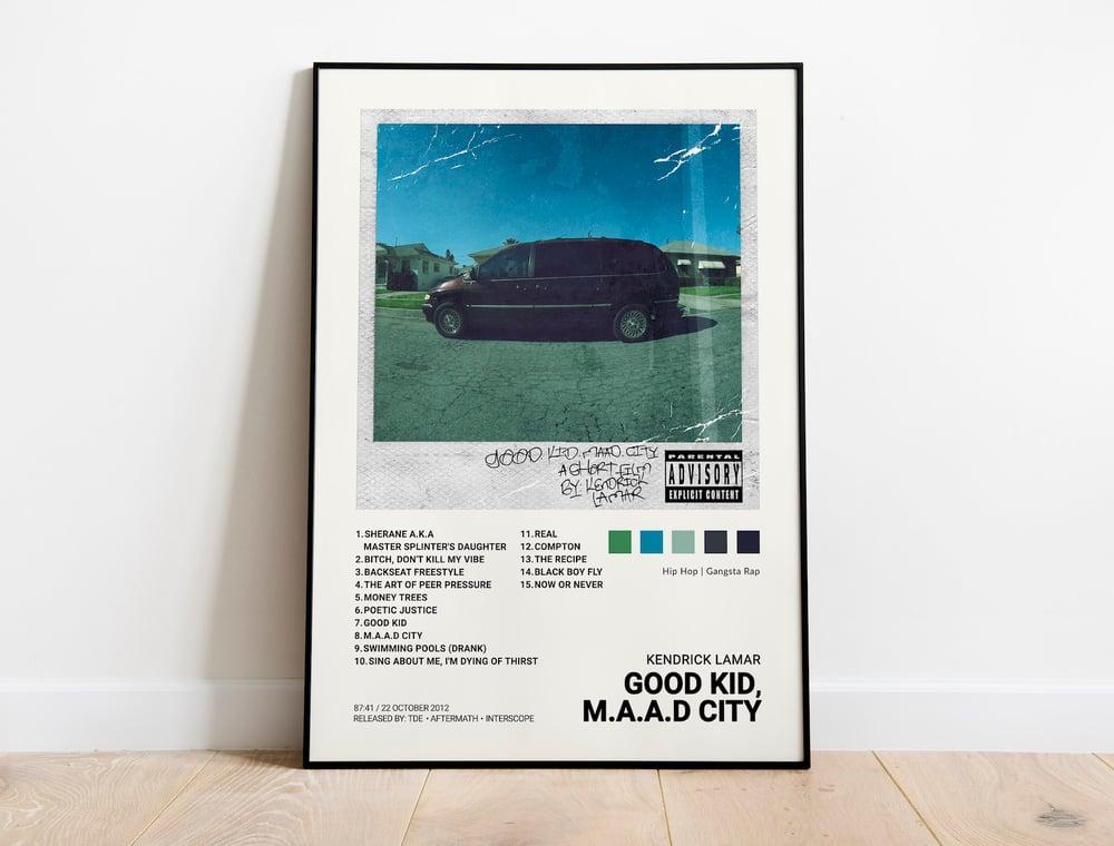 Kendrick Lamar - good kid, m.A.A.d city Album Cover Poster