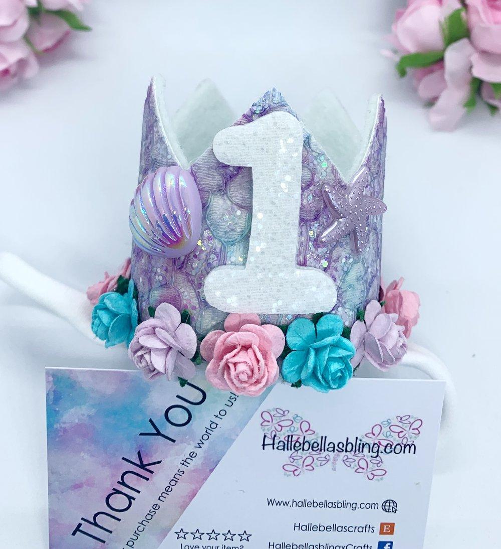Image of Mermaid birthday age crown