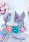 Mermaid birthday age crown