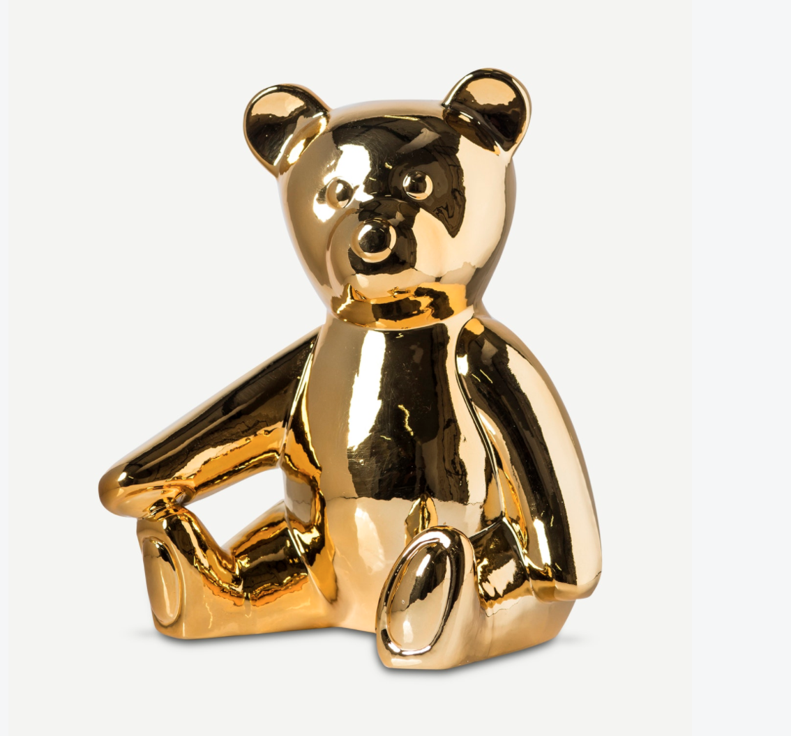 Image of Gold Teddy Bank