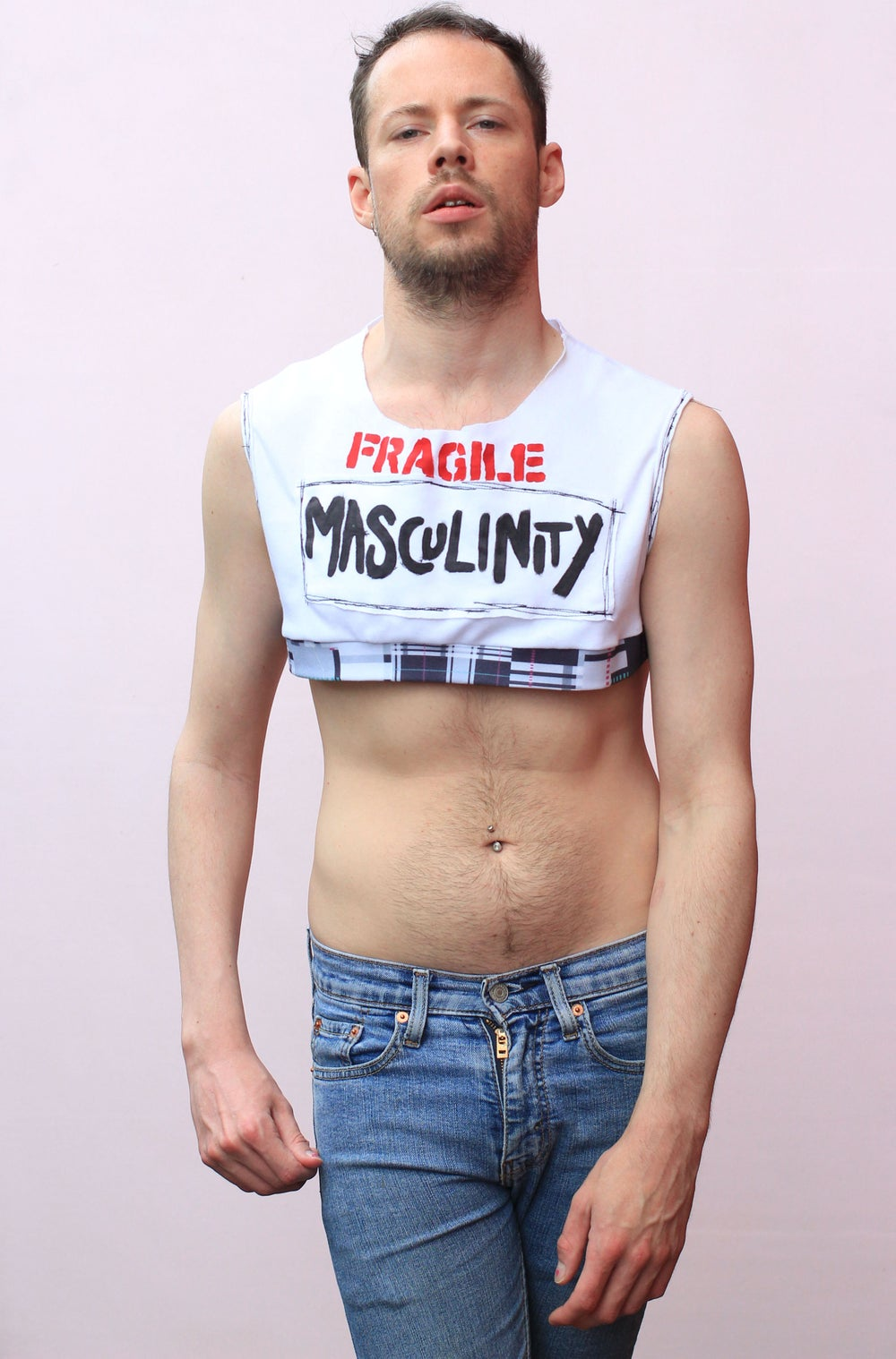 FRAGILE MASCULINITY CROP TOP