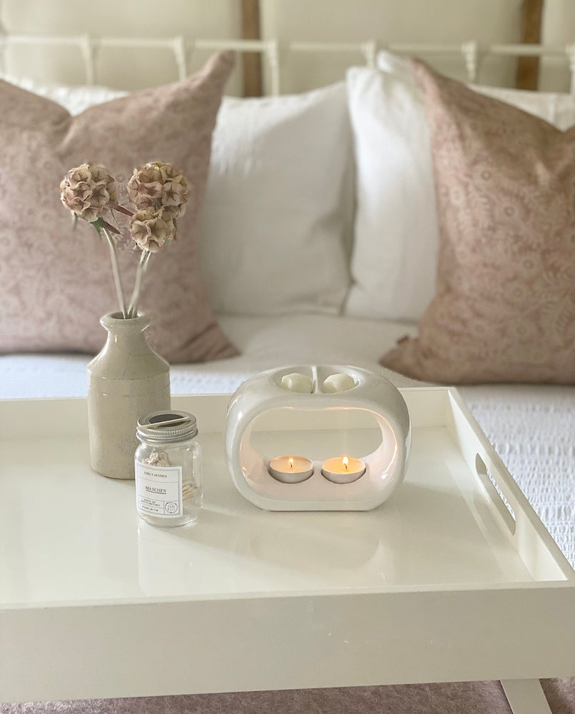 Image of White Duo Ceramic Wax Melter & Melts ☆