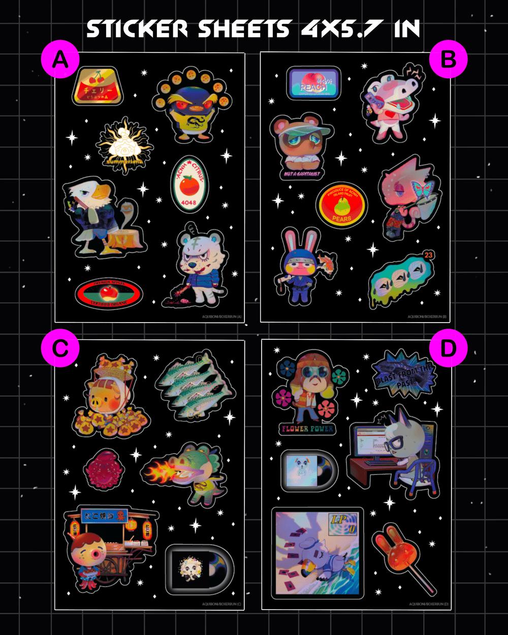 Animal Crossing Sticker Sheets