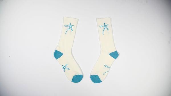 Image of StarrOfTheShow Logo Socks