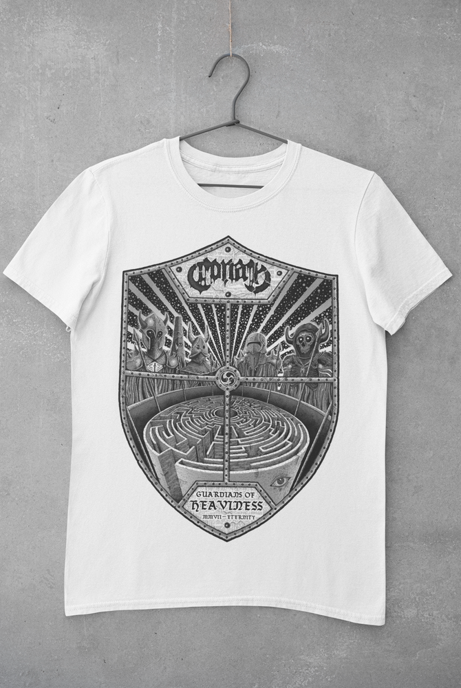 Image of Guardians Of Heavy White Tee w/ Black Print