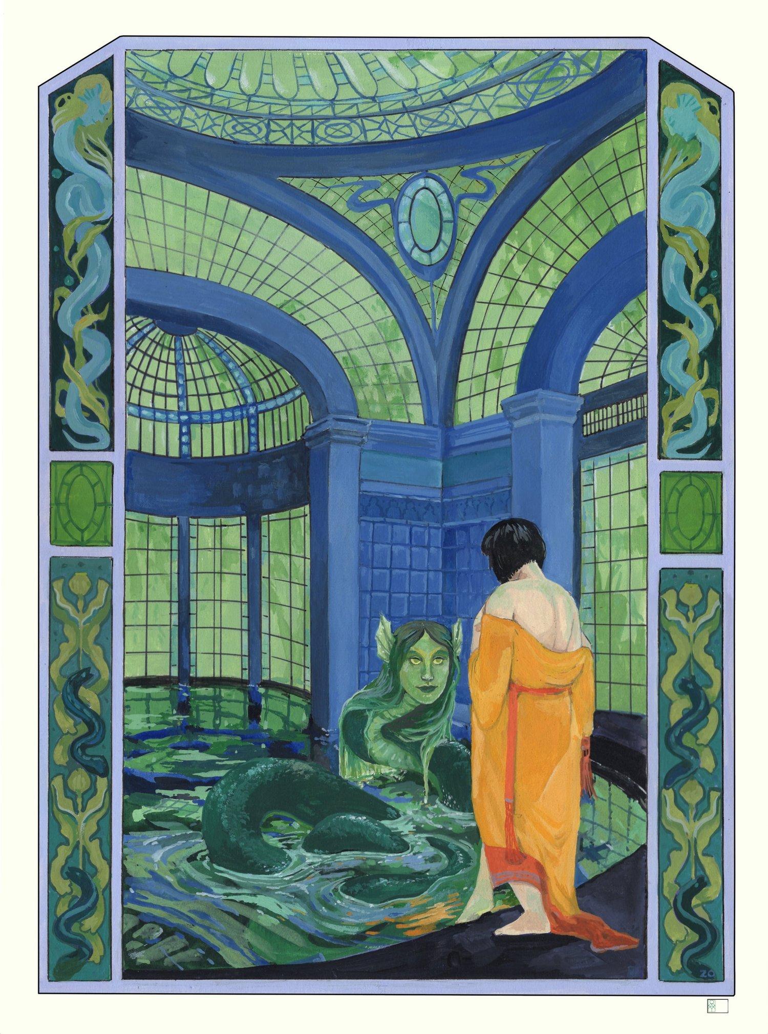 Image of Mirror Moss Baths -Archival Print