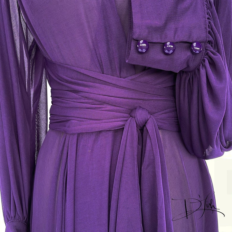 """Image of Purple Sheer """"Beverly"""" Dressing Gown"""