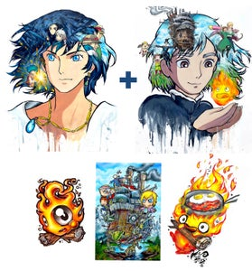 """Image of Limited Edition """"Howl's Moving Castle"""" Holographic Print Pack"""