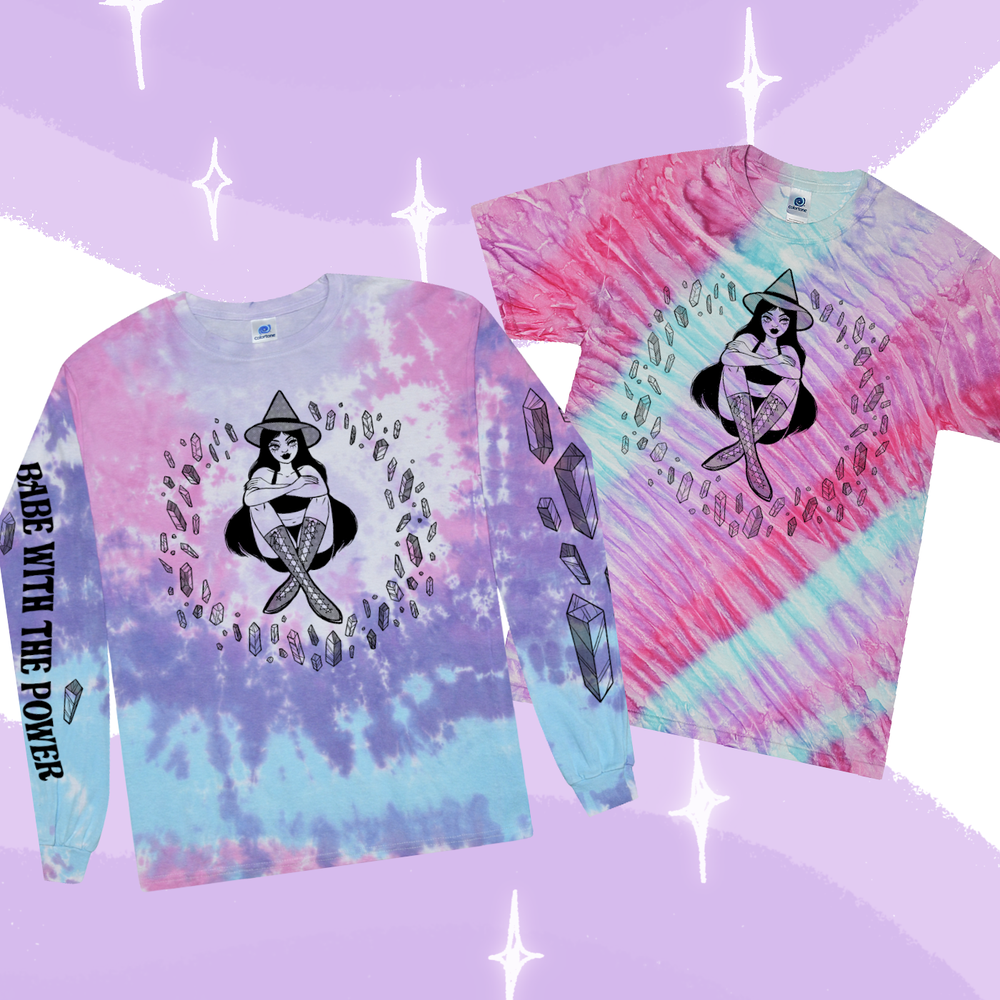 Image of BABE WITH THE POWER TIE DYE TOP