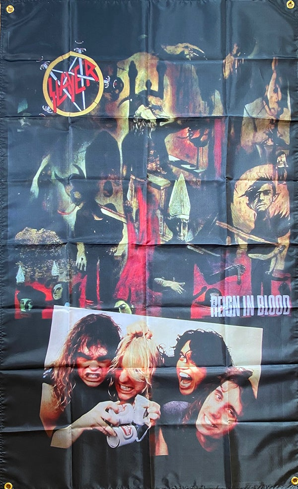 """Image of Slayer """" Reign In Blood """" Banner / Tapestry / Flag"""