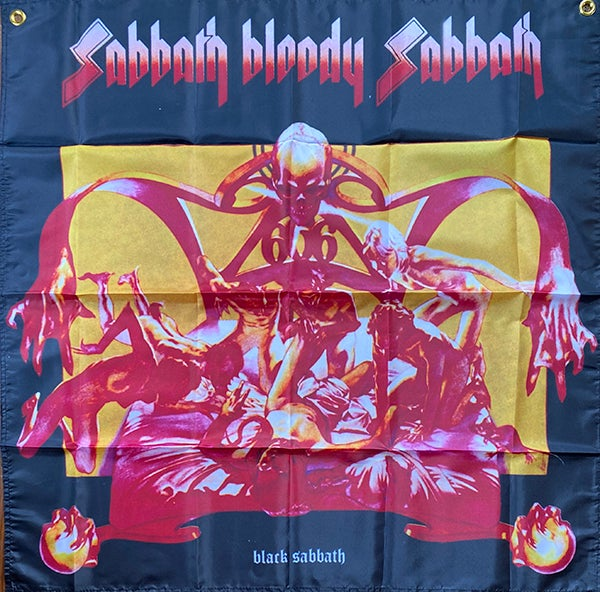 """Image of Distro item -  """" Sabbath Bloody   Banner / Tapestry / Flag  """""""