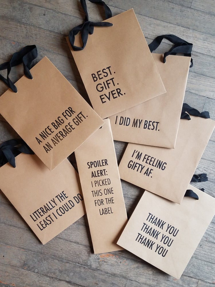 Image of Printed Kraft Gift Bag