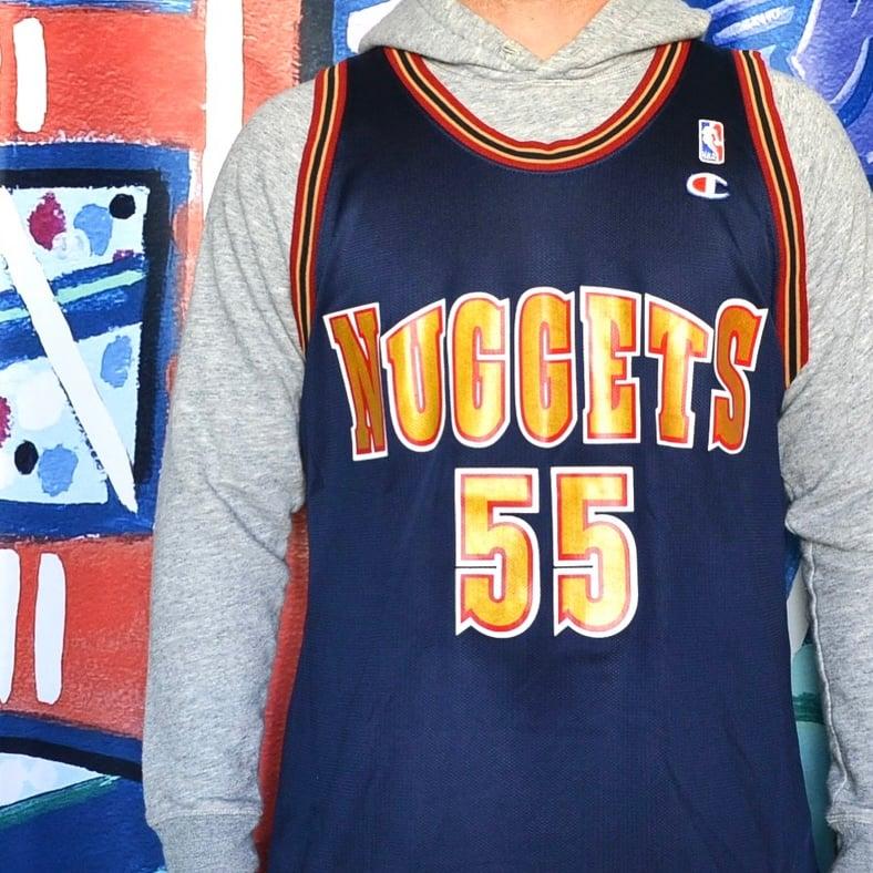 Image of Vintage 1990's Denver Nuggets Dikembe Mutombo Champion Jersey Sz.48