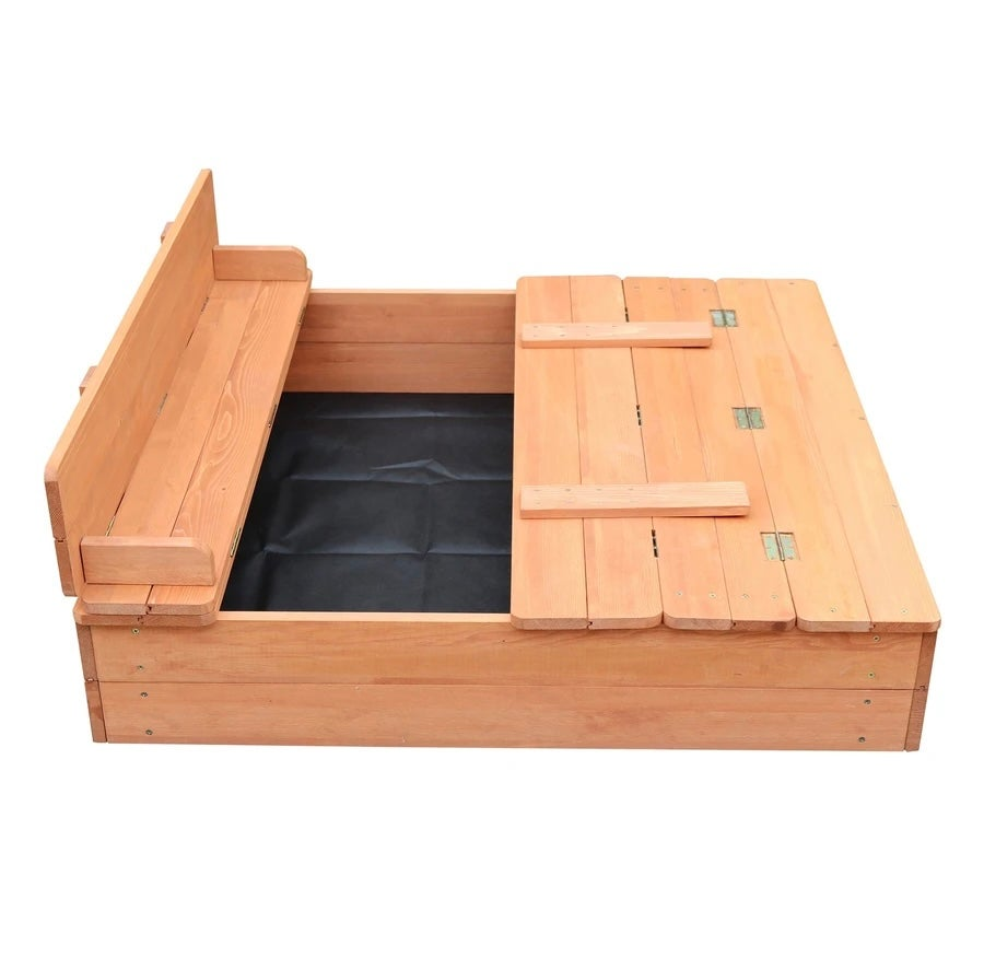 Image of Sandpit with seating & cover - delivery after 21st June