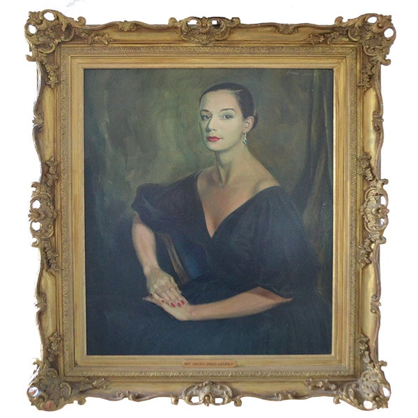 Image of Society Portrait 'Mrs John Heath' Vasco Lazzolo (1915 - 1984)