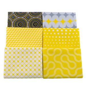 Christa's Color Bundle in Yellow/Gray: 6 Fat Quarters