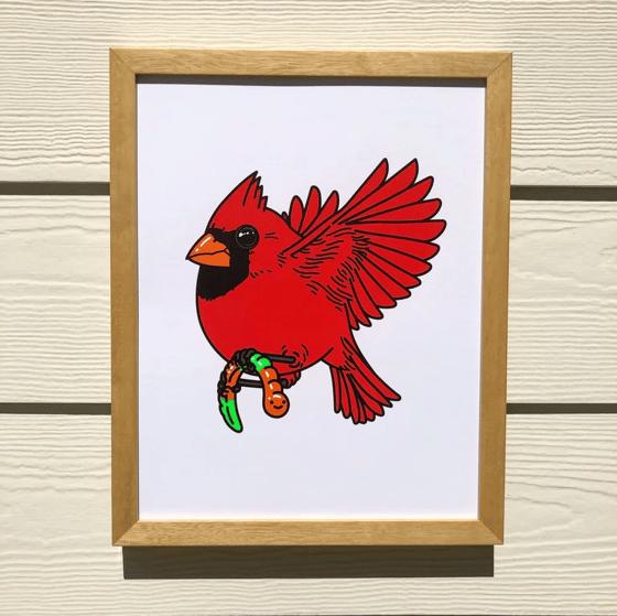 Image of Fat Cardinal & Gummy Worm